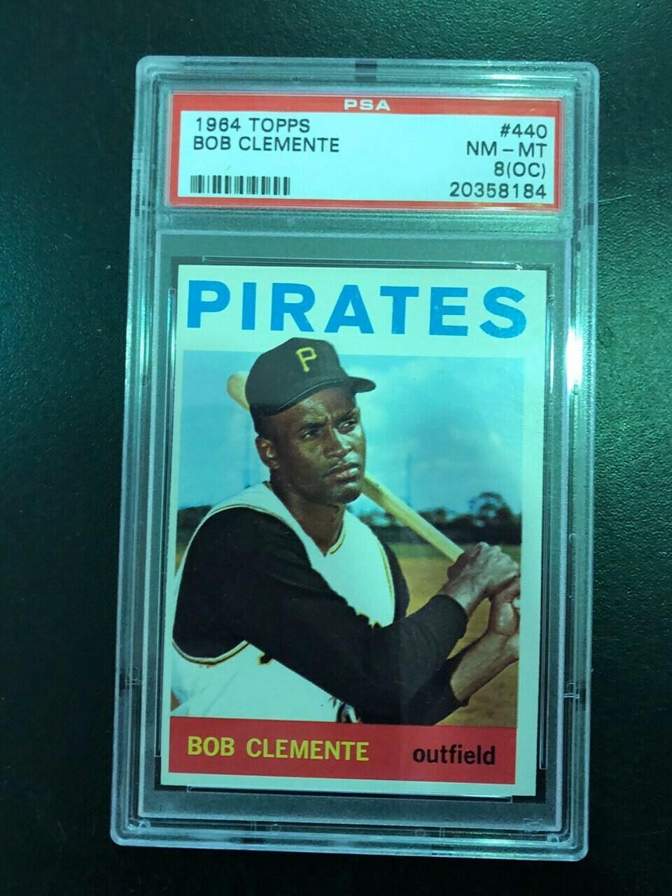 1964 Topps #440 Roberto Clemente PSA graded 8oc, $250