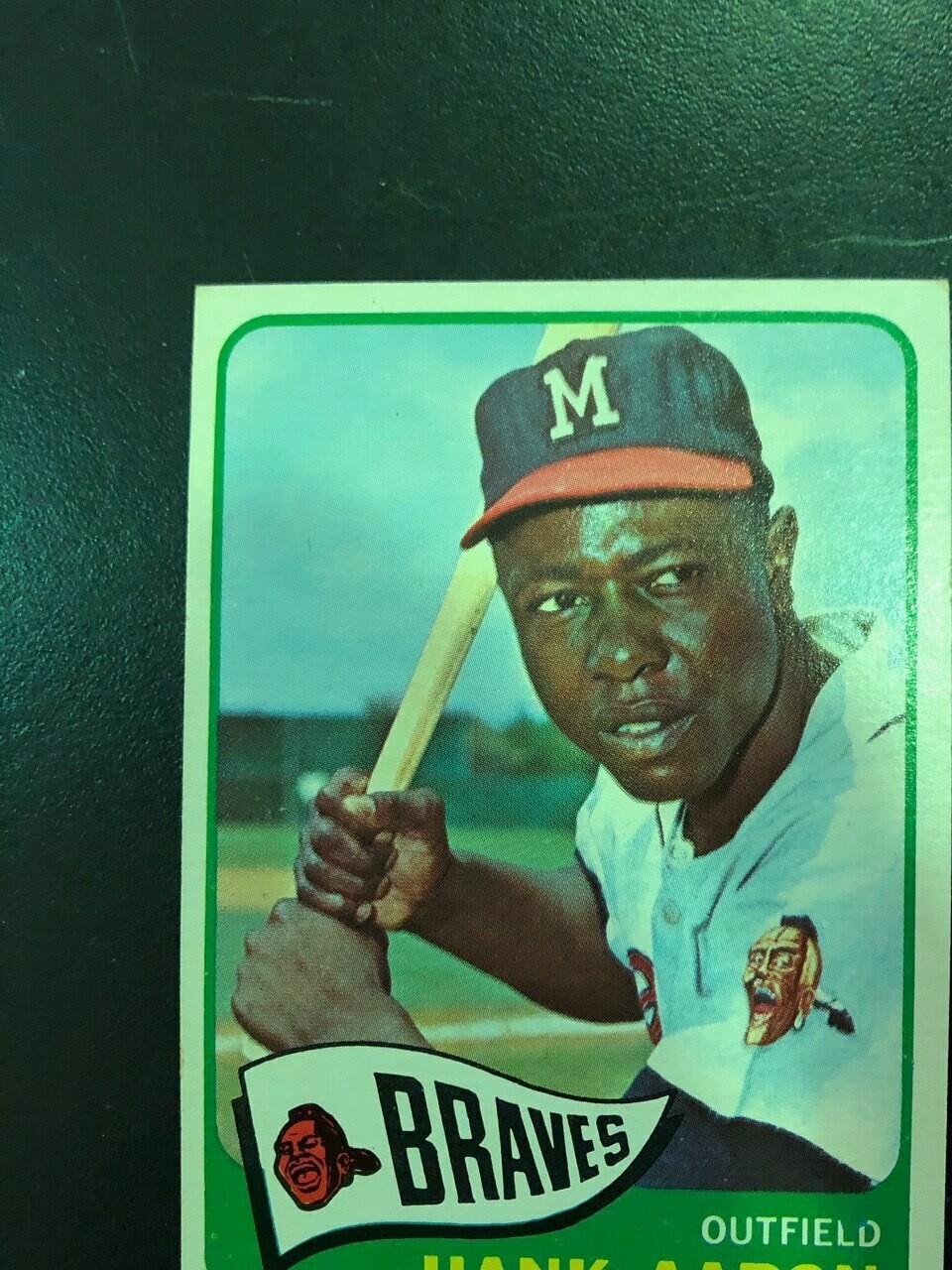 1965 Topps #170 Hank Aaron, List $120, Sell $95