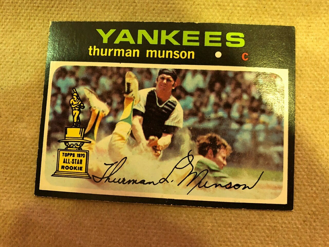 1971 Topps #5 Thurman Munson, List $120, Sell $95