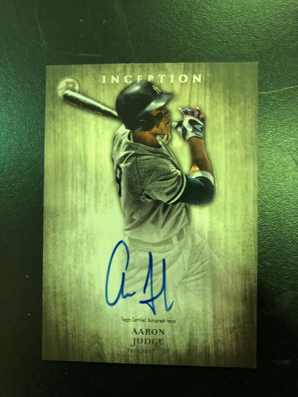 2014 Topps Inception Aaron Judge Autograph card, $295