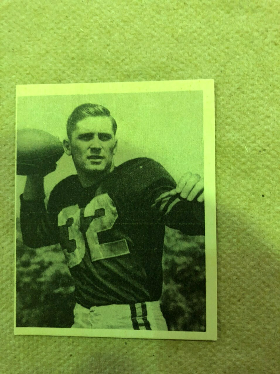 1948 Bowman #3 Johnny Lujack rookie, List #350, Sell $195