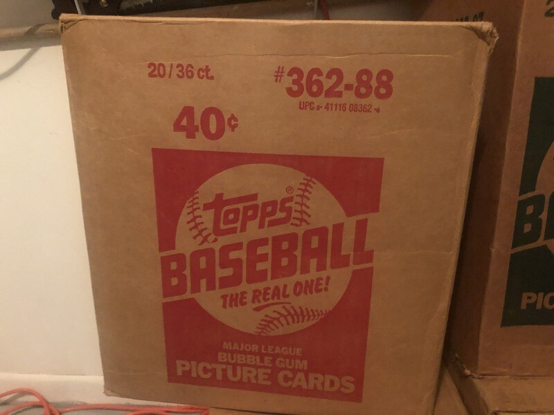 1988 Topps Baseball Wax Case; 20 boxes