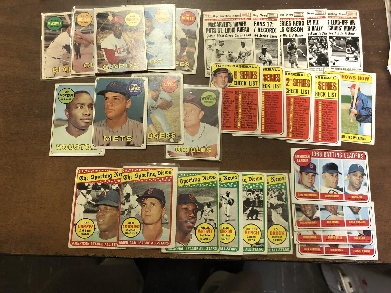 1969 Topps Starter set 293 cards; 30 stars