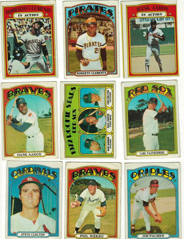 1972 Topps Starter set 475 cards; G-VG