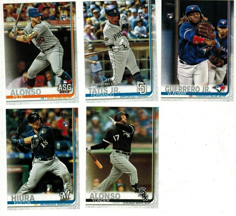 2019 Topps Baseball update set Loaded with Rookies