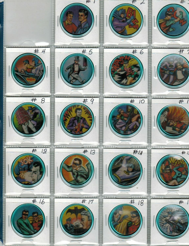 1966 Space Mountain Batman Coin complete set Nr Mint