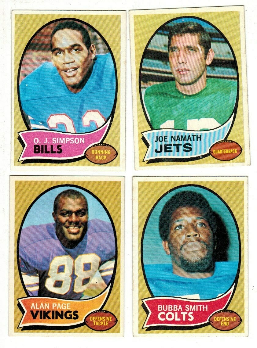 1970 Topps Football Set Ex Condition