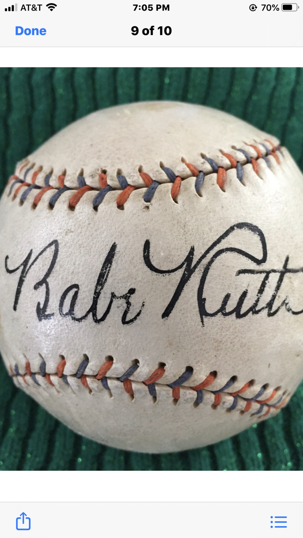 Babe Ruth signed Baseball Spectacular High End Autograph JSA PSA