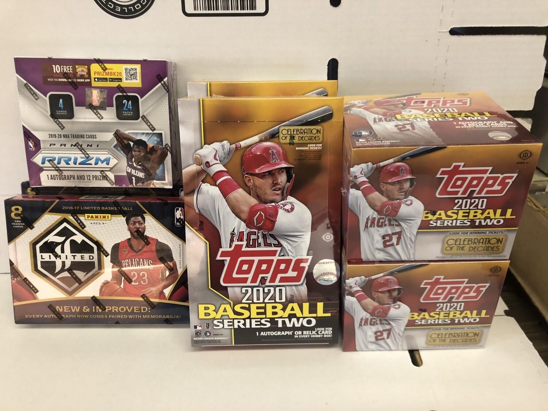 2020 Topps Series 2 Baseball boxes & more