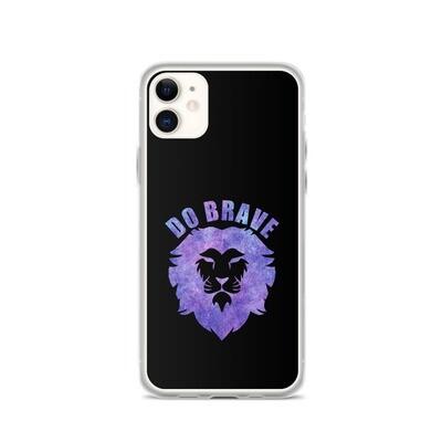 Watercolor Do Brave Lion iPhone Case