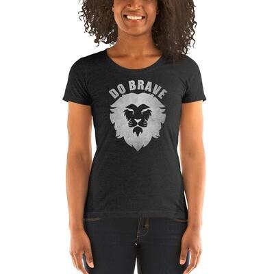 Ladies' Do Brave Lion T-Shirt (Silver)
