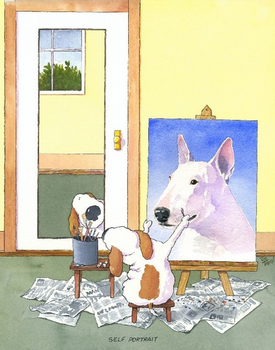 Self-Portrait Bull Terrier