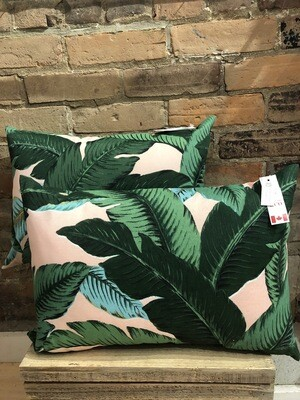 Pink Palm Leaves 14x20 Pillow