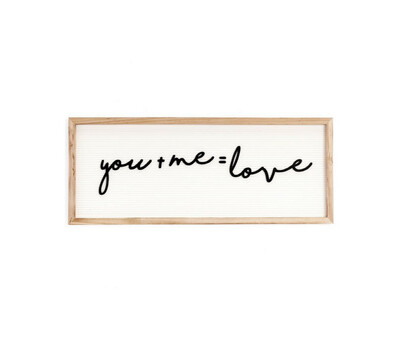Wall Plaque You & Me