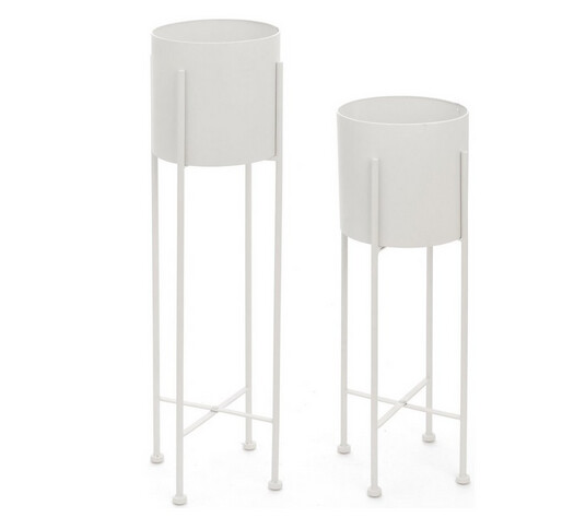 White Planters with Stand