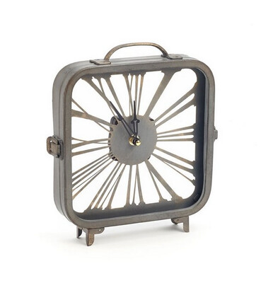 Grey Table Clock