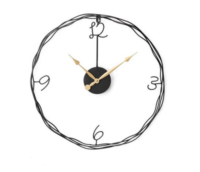 Iron Outline Wall Clock