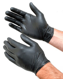 Black Nitrile Gloves 5.3mil | Size Medium | Case of 1,000 Gloves