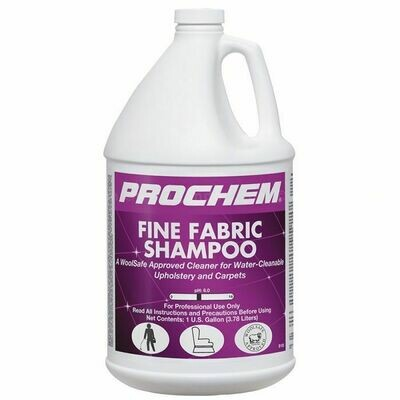 Fine Fabric Shampoo (Gallon) by ProChem   Water-Cleanable / Wool Safe Cleaner