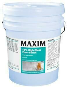 MAXIM 18% High Gloss Floor Finish (5 gal. Pail) by MidLab | VCT Wax