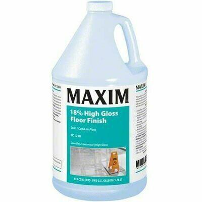 MAXIM 18% High Gloss Floor Finish (Gallon) by MidLab | VCT Wax