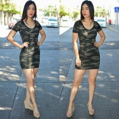 Vestido camuflaje