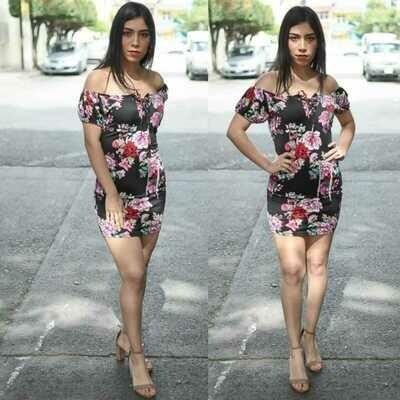 Vestido Floral modelo SNN18-1