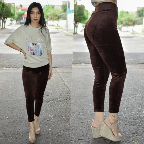 LEGGINGS TERCIOPELO-CAFE
