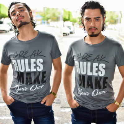 Paquete 4 playeras Rules Make