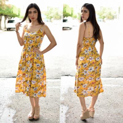 Vestido tirante floral