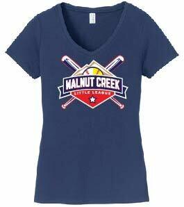 Ladies Navy V-neck T-shirt