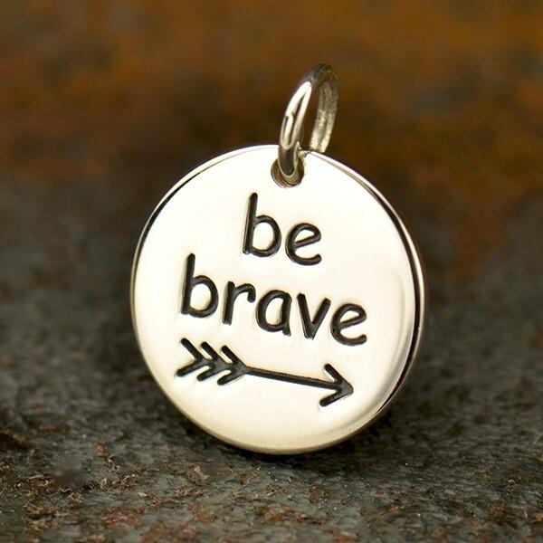 Sterling Silver Motivational Pendant - Be Brave
