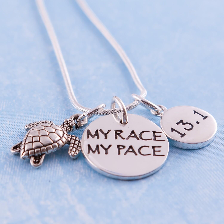 My Race My Pace 13.1/26.2/10K/5K/70.3/140.6 Charm Trio