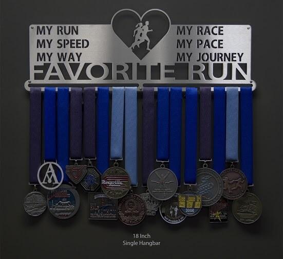 Favorite Run My Race My Pace Heart Medal Display