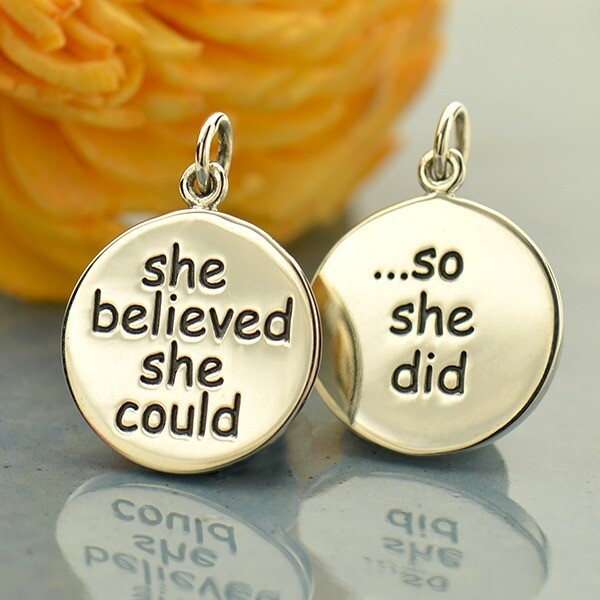 Sterling Silver Necklace She Believed She Could So She Did