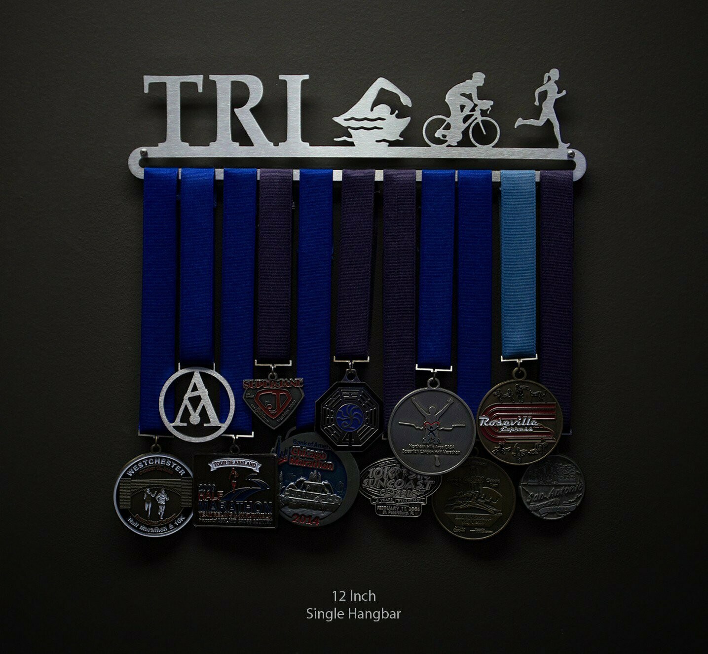 Medal Display Triathlon Figures - Female