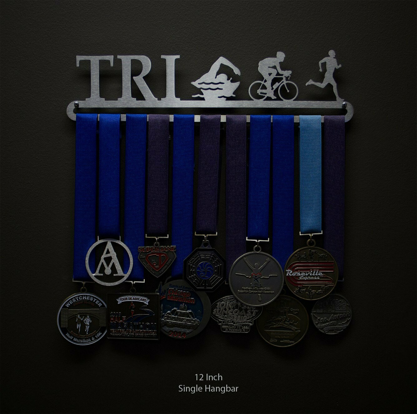 Medal Display Triathlon Figures - Male