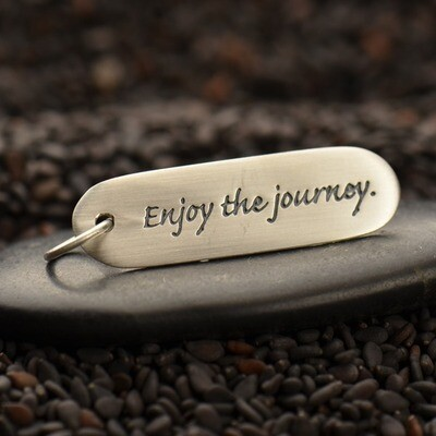 Sterling Silver Quote Charm - Enjoy the journey