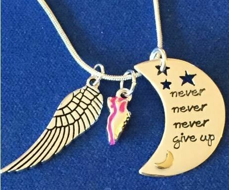 Never Never Never Giveup Necklace Trio