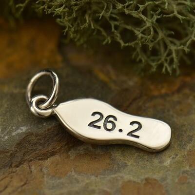 Sterling Silver 26.2 Marathon Charm Necklace