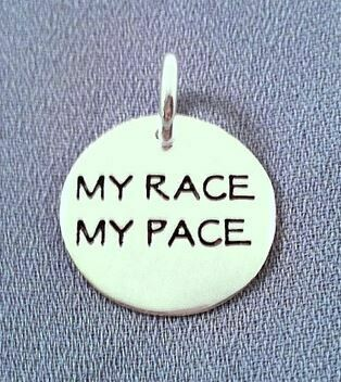 My Race My Pace Sterling Silver Charm