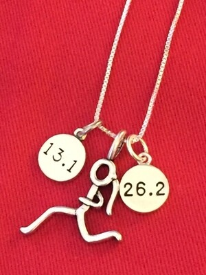 13.1 Runner Girl 26.2 Necklace