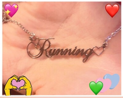 Handmade Running Pendant necklaceg Silver
