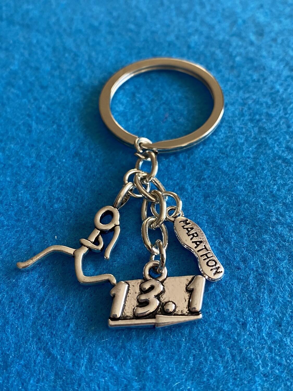 13.1 Marathon Runner Keychain