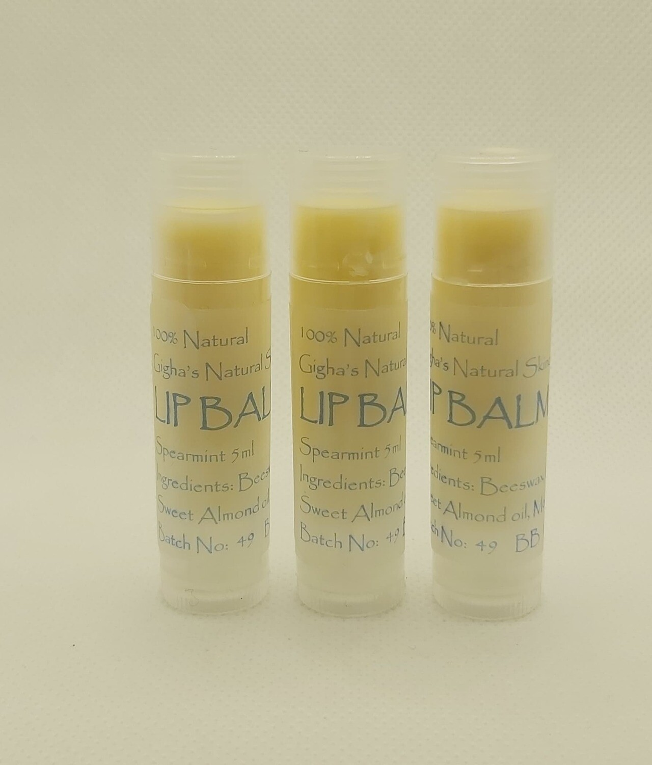 5ml Lip Balm tube 'Spearmint'