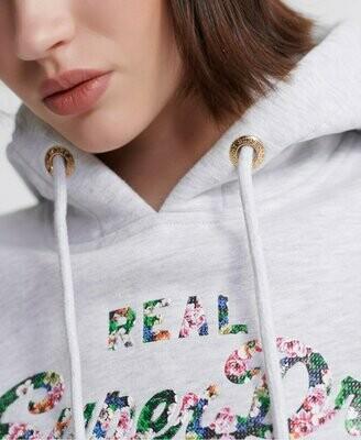 Sudadera Con Capucha Y Logo Vintage Con Estampado Floral