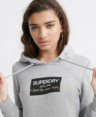 Sudadera Premium gris Superdry 34th street NEW YORK