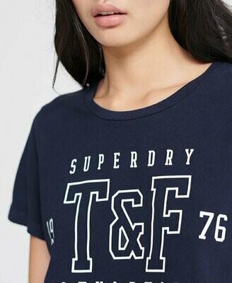 Camiseta track & Field Superdry azul