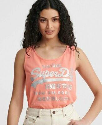 Camiseta De Tirantes Con Superdry Metalizado Premium Goods