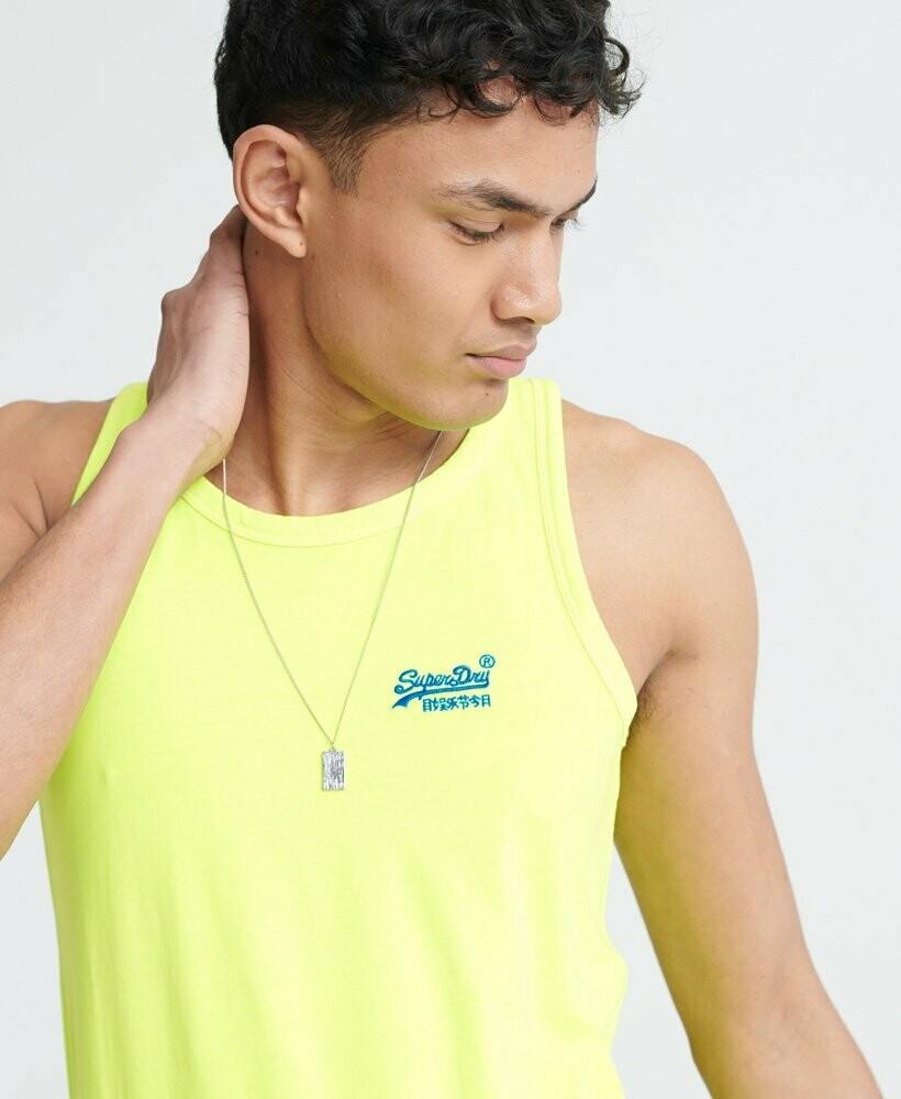 Camiseta De Tirantes Orange Neon Amarilla